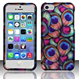 Windowcell for Iphone 5c - Rubberized Design Cover - Peacock Feathers