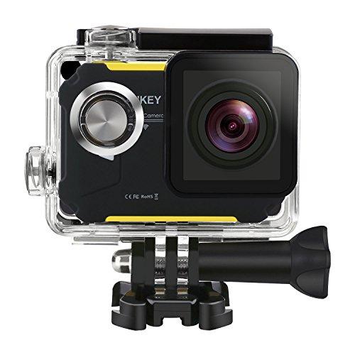 Aukey スポーツカメラ ウェアラブルカメラ wifi機能搭載 12MP 1080P@30fps 30m防水 170度HD広角レンズ バイクや自転車/カート/車に取り付け可能 AC-WC1