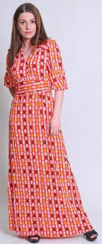 Totem, langes Kleid, 224, Rot