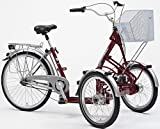 "PFIFF Adult Primo Front Tricycle (20"" & 26"" wheels), Maroon"