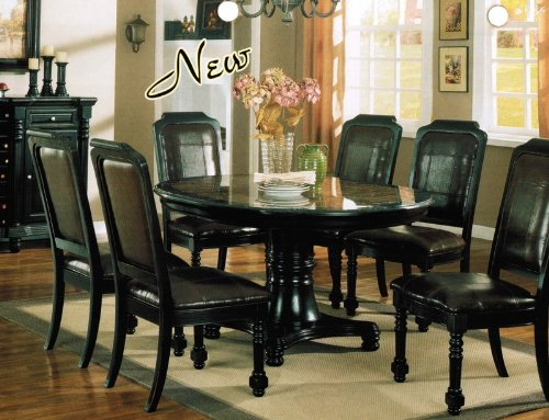 Buy Low Price Acme Furniture 7pc Formal Dining Table Chairs Set Black