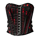 Hell Bunny Korsage ZIPPER CORSET black-red