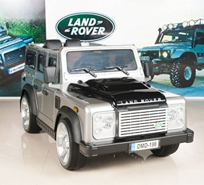 Land-Rover-Defender-Kids-Ride-On-TruckCar-12V-Battery-Powered-Wheels-with-RC-Remote-Control-Silver