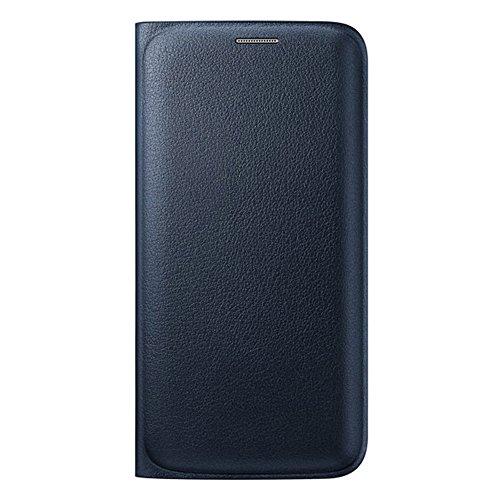 [Samsung純正] Galaxy S6 Edge Flip Wallet Cover(PU) - ギャラクシーS6エッジ フリップウォレットカバー(PU) (自動画面ON/OFF機能付き) (ブラック)
