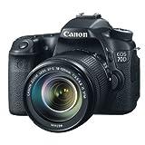 Canon EOS 70D SLR-Digitalkamera (20,2 Megapixel CMOS-APS-C Sensor, 7,7 cm (3 Zoll) TFT-Display, 0,95-fach Zoom, mini-HDMI, 3,5mm Klinke) Kit inkl. EF-S 18-135mm Objektiv schwarz