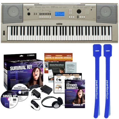 Yamaha YPG-235 76-Key Portable Grand Piano w/ D2 Survival Kit and Cable Ties