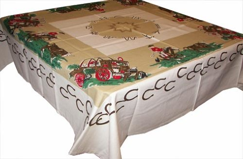 Cowboys Western Cloth Tablecloth