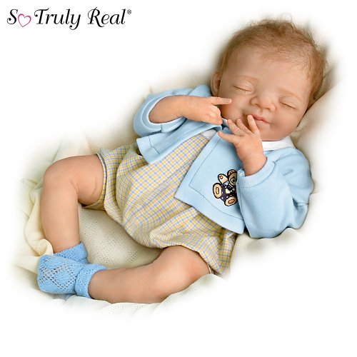 Ashton Drake Sleeping Beauty Doll: Smiling Sweetly, Benjamin: So Truly Real Lifelike Baby