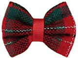 Yuletide Tartan Dog Bow Canister (48 Pieces)