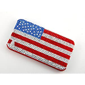 Patriotic Bling American Flag Swarovski Crystal iphone 4/4s case at amazon