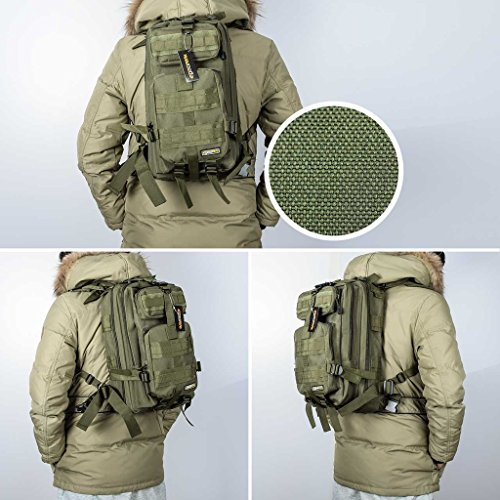 Eyourlife Military Tactical Backpack Small Rucksacks Hiking Bag ...
