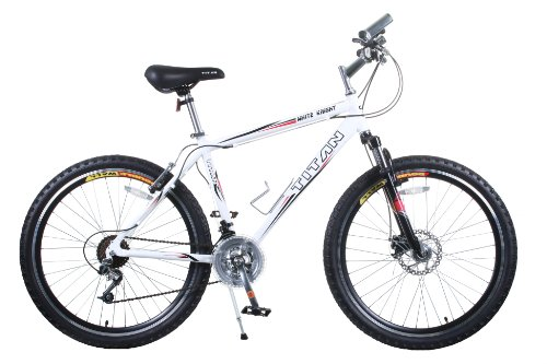 TITAN White Knight Aluminum Suspension Men's Mountain Bike with Disc Brake
