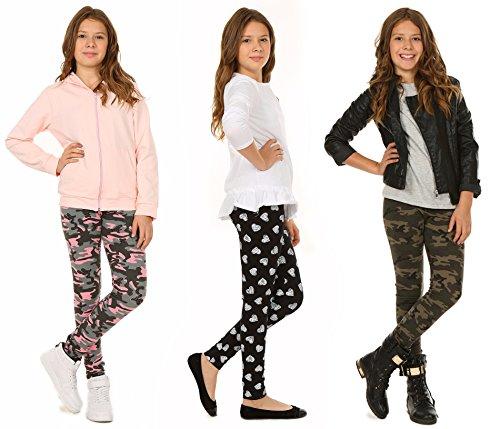Winter Baumwolle Muster Leggings für Mädchen Camuflage Military Warme Legings Kinder Hose Gr. 116-158