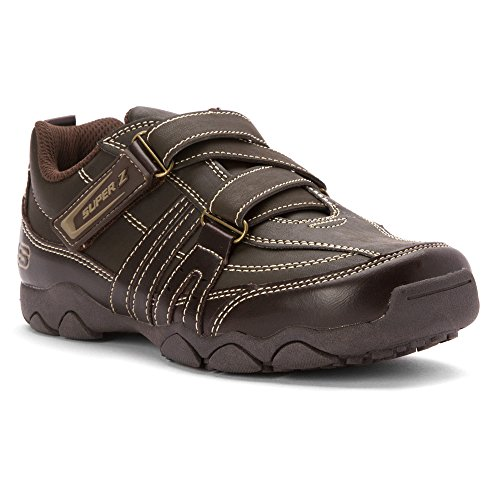 Skechers Boy's Kids' Landon Relaxed Fit Super Z Sneaker Pre/Grade School Dark Brown 13 M