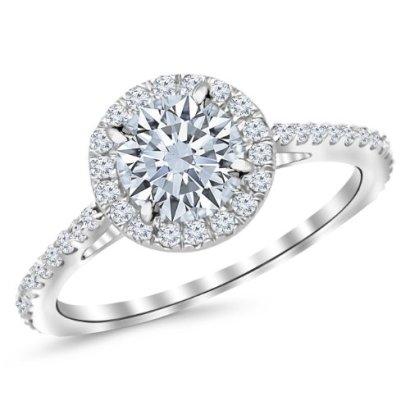 19-Carat-Classic-Halo-Diamond-Engagement-Ring-14K-White-Gold-with-a-15-Carat-I-J-SI2-I1-Round-Brilliant-CutShape-Center