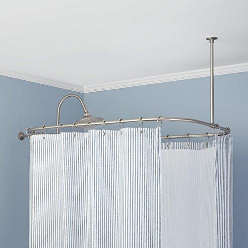 rectangular shower curtain rod 54 l x 24 w chrome check price cavabw