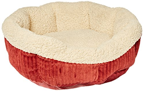 Self Warming Cat Bed Warm Spice with Creme