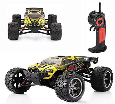 CR-112-Full-Proportional-24GHz-2WD-Remote-Control-Off-Road-Monster-RC-Hobby-Truck-35MPH-High-Speed-Radio-Controlled-Electric-Truggy-Buggy-Cars-RTRYellow