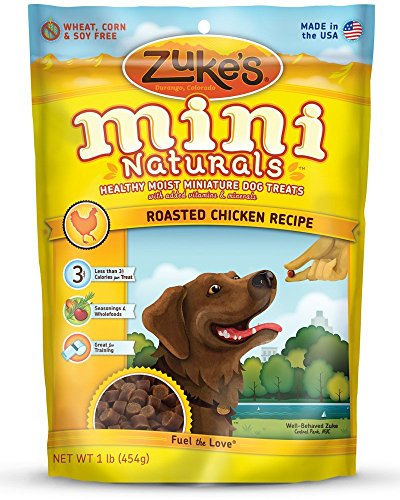 Zuke's Mini Naturals Healthy Moist Training Treats 1 lb (Pack of 3, 3 Pounds total)