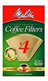 Melitta Cone Coffee Filters Natural Brown #4 (100 Count (Pack Of 3))
