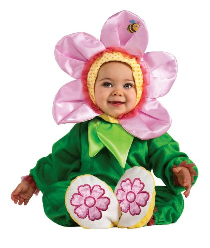 Rubie's Costume Cuddly Jungle Pink Pansy Romper Costume, Green, 6-12 Months