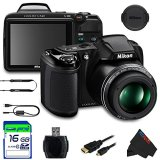 Nikon-COOLPIX-L340-Digital-Camera-Black-16GB-Pixi-Basic-Accessory-Bundle