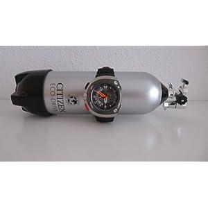 Citizen Men's JV0020-12F Eco-Drive 20th Anniversary Aqualand Black Metric Dive Watch