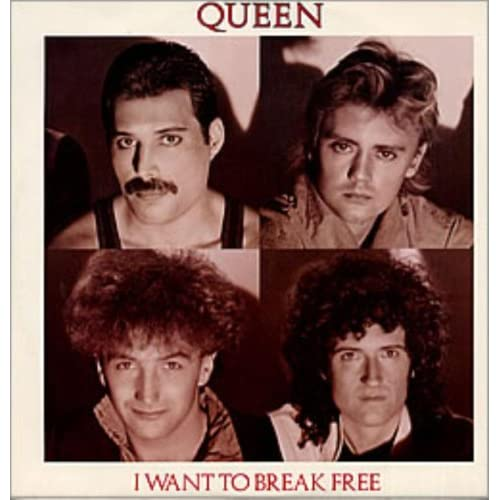 I Want To Break Free - White Bordered Group Picture Sleeve