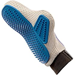 Pet Prime Dog & Cat Grooming Glove Brush - Deshedding & Massaging Tool For Long & Short Hair Pets