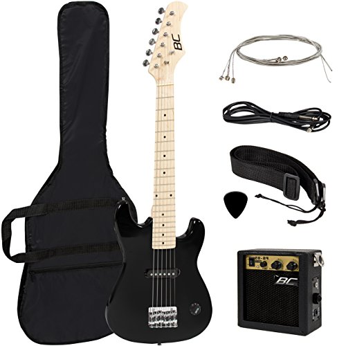 New-30-Kids-Black-Electric-Guitar-With-Amp-Much-More-Guitar-Combo-Accessory-Kit