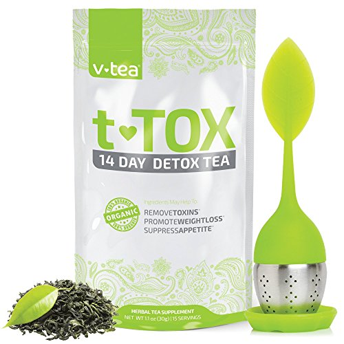 vitalitea 14 Day Detox Tea Herbal Supplement with Tea Infuser