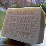 Handcrafted Brazilian Rain Forest Copaiba Soap with (Acai Berry Butter) & Tree Leaves