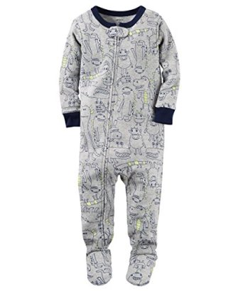 Carters-Baby-Boys-Snug-Fit-Cotton-Footie-Pajamas-2T-Grey-Monster