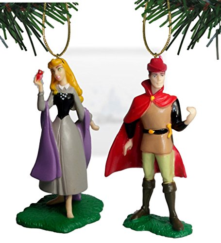 Disney's Sleeping Beauty 'Prince Philip and Aurora' Ornament Set of 2