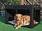Petsfit 36 X 24 X 23 Inches Travel Pet Home Indoor/Outdoor Steel Frame Home,Collapsible Soft Dog Crate(Black)