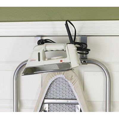 Household Essentials Over The Door Small Ironing Board Iron Holder