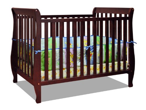 Athena Nadia 3 In 1 Crib With Toddler Rail Cherry