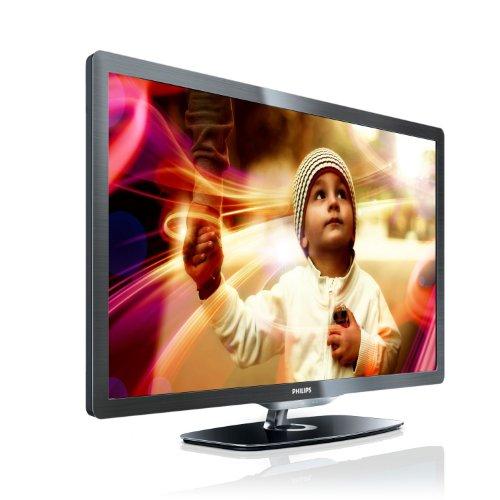 Philips 46PFL6606K/02 117 cm (46 Zoll) LED-Backlight-Fernseher, Energieeffizienzklasse A+ (Full-HD, 400 Hz PMR, DVB-T/-C/-S2, Smart TV) dunkel gebürstetes Silber