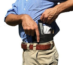 AlphaHolster Concealed Carry Belly Band Cross Draw Gun Holster (X-Large Black)
