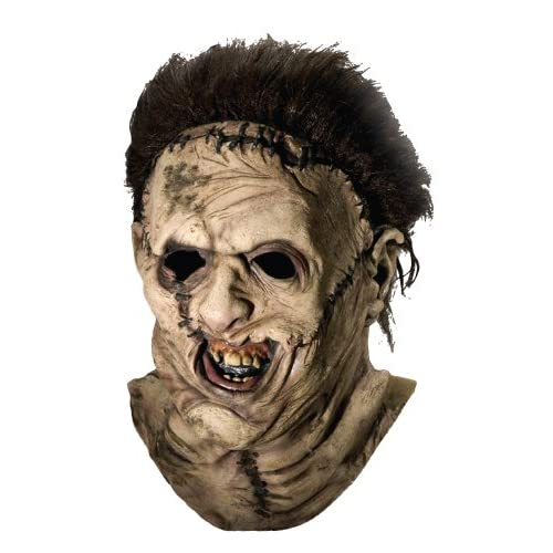 Review Texas Chainsaw Massacre Costume with Leather Face Deluxe ...