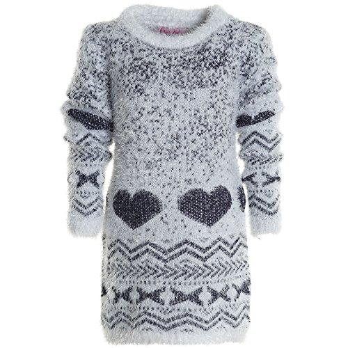Mädchen Shirt Pullover Langarm Strick Sweat Shirt Strick Flauschig 20634