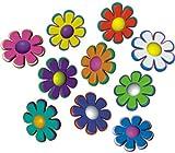 Autoaufkleber, Blumendesign: Mini Flowers 06 - 46 Stück - bunt gemischt!