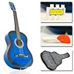 New Blue Acoustic Guitar W/ Accessories Combo Kit Beginners for $14.95 + Shipping