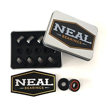 Neal Bearings 8-Piece Precision Skate Bearings, Titanium