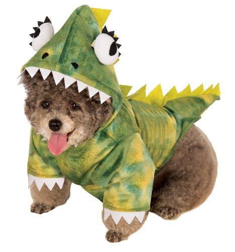 Rubies Costume Halloween Classics Collection Pet Costume, Medium, Green Dinosaur Hoodie