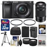 Sony-Alpha-A6300-4K-Wi-Fi-Digital-Camera-16-50mm-with-55-210mm-Lens-32GB-Card-Case-Battery-Charger-Tripod-Filters-Kit