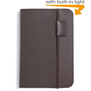 "Kindle Lighted Leather Cover, Chocolate Brown (Fits 6"" Display, Latest Generation Kindle)"