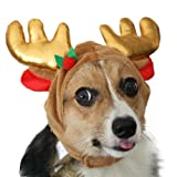 Pawliss Christmas Dog Reindeer Antler Hat Small