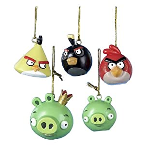 Angry Birds 5-Pack Mini Christmas Ornaments