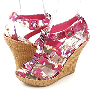 Qupid Ceduce193 Wedges Pink